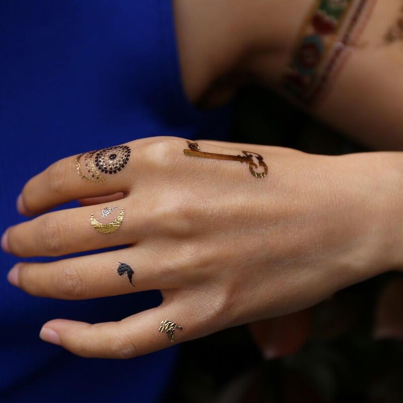 tatouage ephemere bracelet attrape reve lune fleche indien kolawi. Black Bedroom Furniture Sets. Home Design Ideas