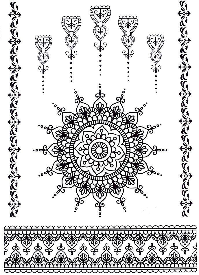 faux tatouage mandala black et bracelet kolawi. Black Bedroom Furniture Sets. Home Design Ideas