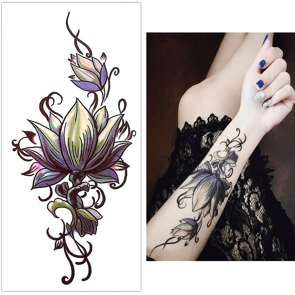 tatouage temporaire fleur orchid e kolawi. Black Bedroom Furniture Sets. Home Design Ideas