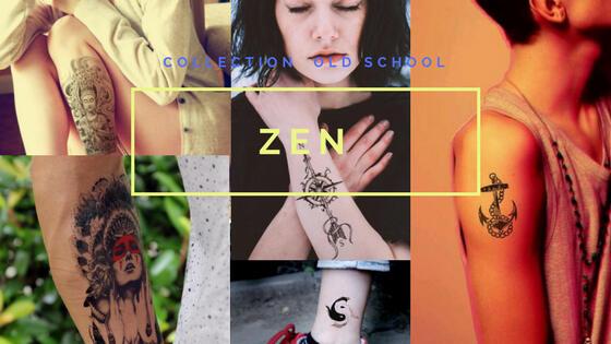tatouage changeable zen boussole ancre