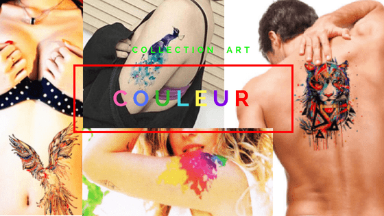 Tatouage éphémère couleur Art