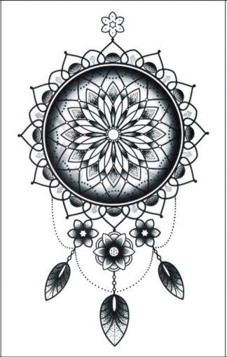 Faux tatouage mandala attrape-reve