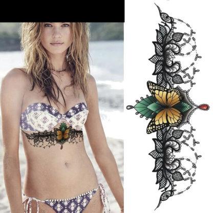 Tattoo papillon dentelle