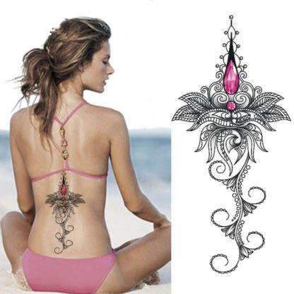 Tatouage temporaire tribal pointe rose