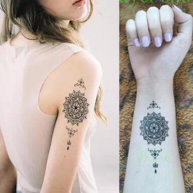 Faux tatouage mandala Maori