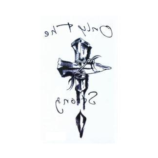 Tatouage ephemere croix de bois