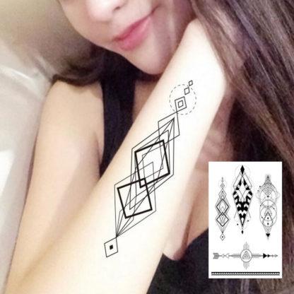 Tattoo losange geometrie