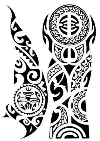 Tatouage temporaire tribal epaule bras Maori