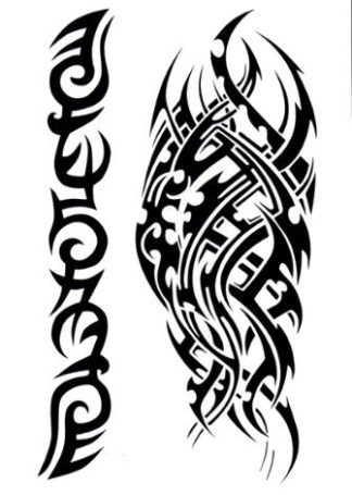 Tattoo tribal tranchant
