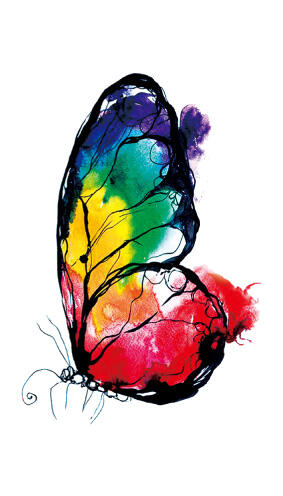Faux tatouage papillon