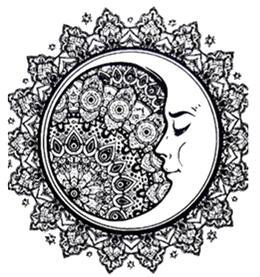 Tatouage temporaire lune mandala