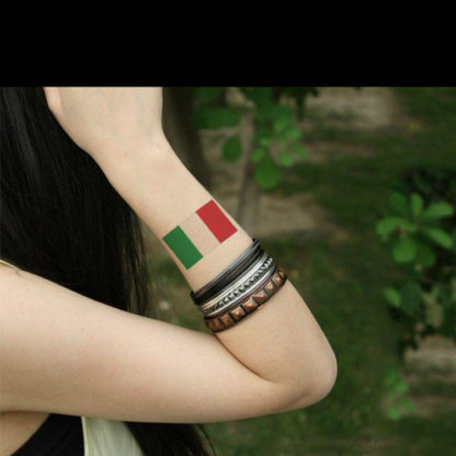 Faux tatouage drapeau + coeur Italie
