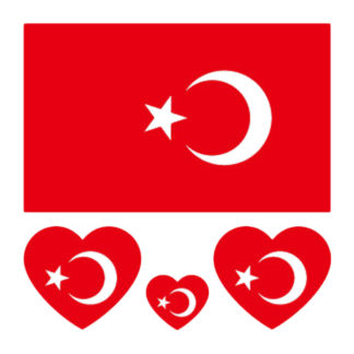 Tattoo drapeau + coeur Turquie