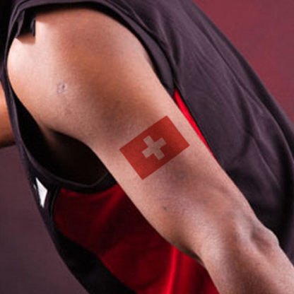 Tatouage temporaire drapeau + coeur Suisse
