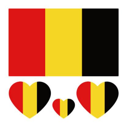 Tatouage ephemere drapeau + coeur Allemagne