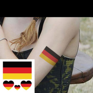 Tatouage ephemere drapeau + coeur Allemagne