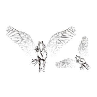 Tattoo cheval pegasus