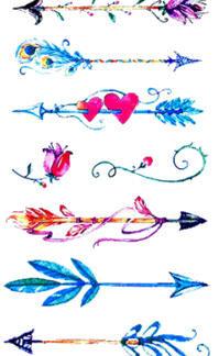 Tattoo fleches couleur 7