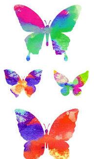 Tatouage ephemere papillons