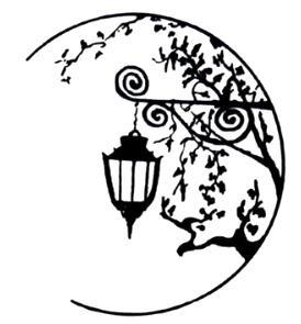 Tatouage temporaire lampadaire lune