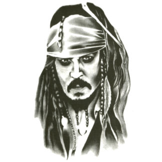 Tattoo pirate Jack Sparrow