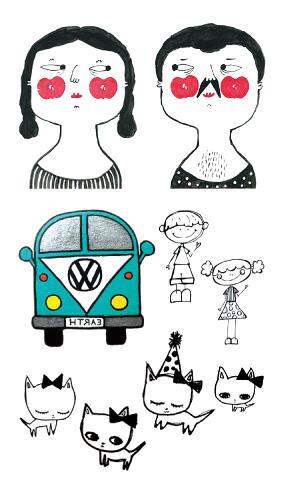 Faux tatouage gugusses amoureux