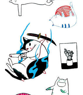 Tattoo chats en croquis