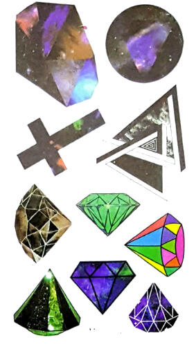 Tatouage ephemere diamants et croix