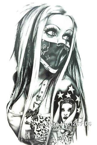 Tatouage ephemere femme foulard rebelle
