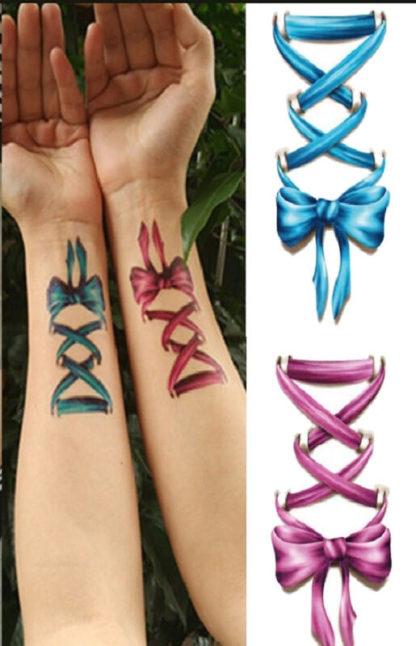 Faux tatouage noeuds ruban 3d