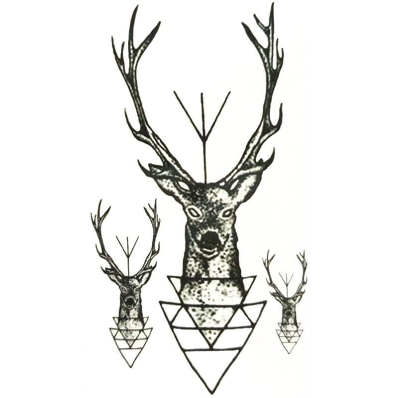 Tattoo Cerf Geometrie New School Boutique Kolawi