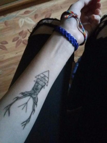 Tattoo cerf geometrie new school