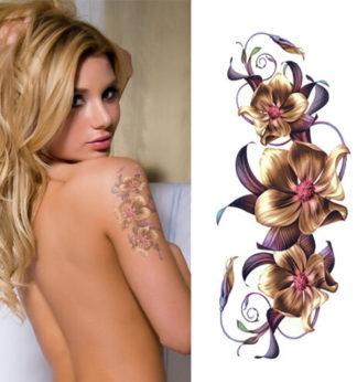 Tattoo fleur orchidee