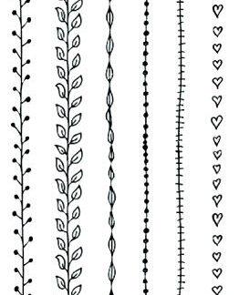 Tatouage temporaire bracelets fins