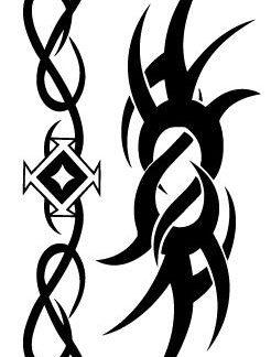 Tatouage ephemere tribal en symbole
