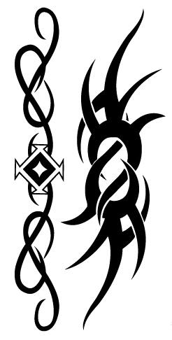 Tatouage ephemere tribal en symbole