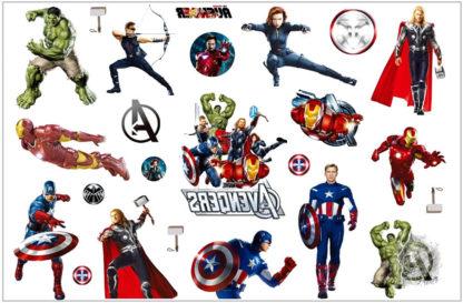 Faux tatouage Avengers les super hero