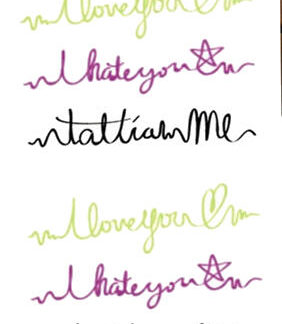 Tattoo message I love-hate you