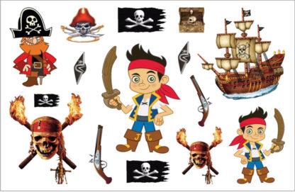 Tatouage ephemere pirate Enfant