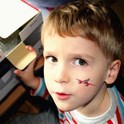 Faux tatouage planes Enfant