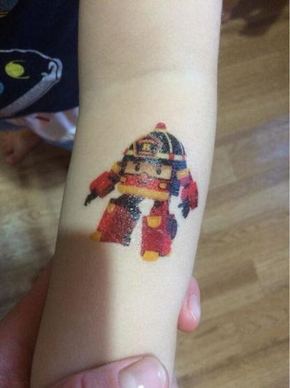Tatouage temporaire robocar Poli Enfant