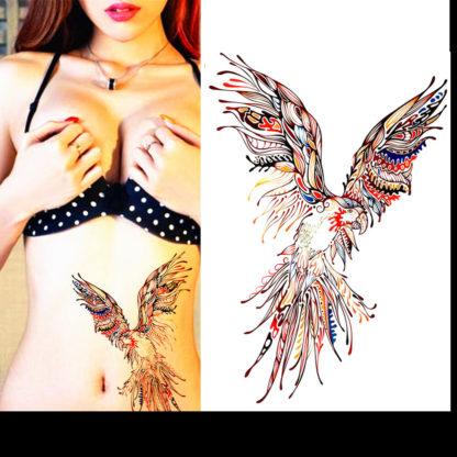 Faux tatouage perroquet tribal