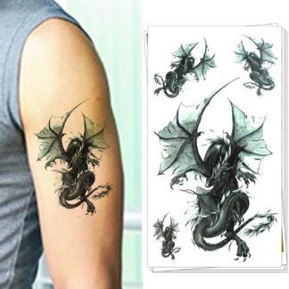 Tatouage temporaire dragons hero