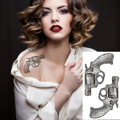 Tattoo 2 flingues Old school
