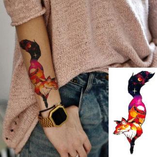 Faux tatouage renard magique