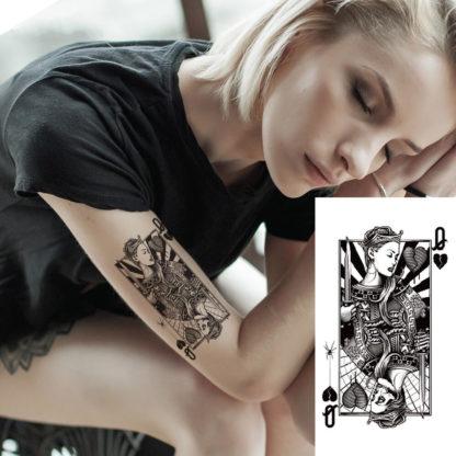 Tattoo carte jeu double face