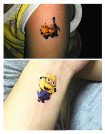 "Tattoo minions ""Moi moche et mechant"""