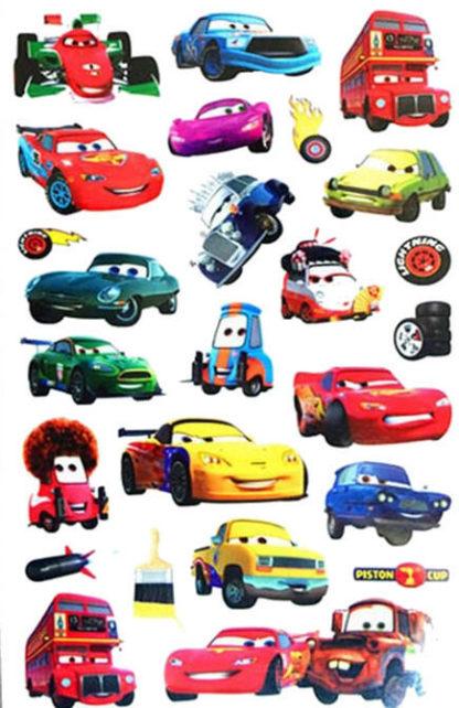 Tatouage temporaire Cars 2 Flash et ses amis