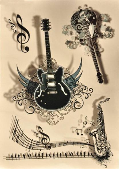 Tattoo instruments de musique 3D