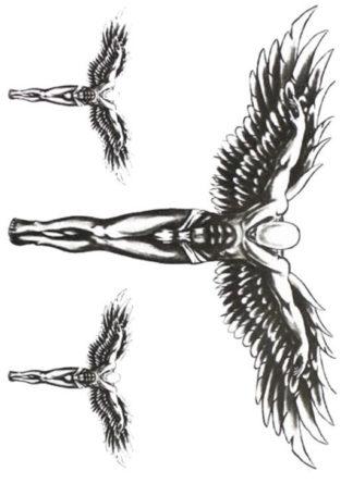 Tattoo ange elevation